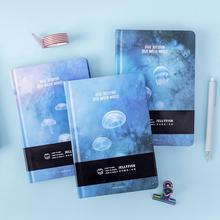 """""""כחול מדוזות"""" קשה כיסוי מחברת ריק אמנות ציור ניירות יומן מחקר יומן פנקס מכתבים מתנה"""