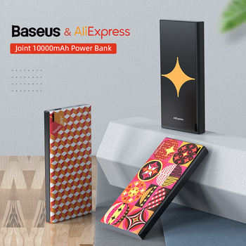 Baseus Joint Aliexpress 10000mAh Power Bank for iPhone Samsung USB Fast Charging Powerbank Slim Portable External Battery