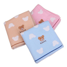 2019 new family essential cotton towel double gauze embroidered bear adult couple wash