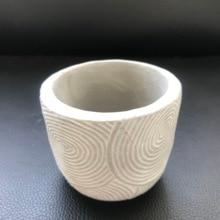 Tree Rings Design Round Shape Cement Flowerpot Silicone Mold for Succlent Plants Clay Pot Molds Home Landsape Planter Mould