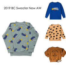 New Autumn Winter 2019 BC Brand Kids Sweaters Boys Girls Fashion Print Sweatshirts Baby Children Cotton Tops Clothes(China)