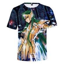 Hot Sale Anime Saint Seiya 3D Printed T-shirt Men/women Fashion Casual Funny Harajuku Round Neck Sweatshirt Hip-hop Tops