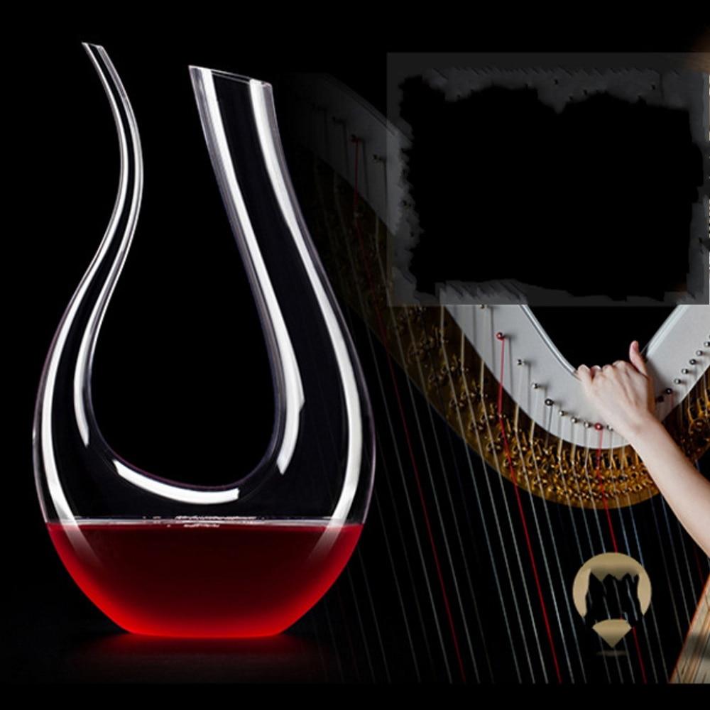 1500ml Handmade Crystal Red Wine Glass Decanter Brandy Decant Aerator Set Jug Bar Champagne Water Bottle Drinking Gift Drinkware