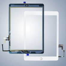 For iPad Air1  20pcs/lot Touch Screen Digitizer & Adhesive +home flexcable completed A1474 A1475 A1476