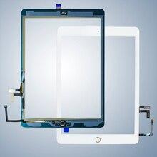 Para iPad Air1 20 unids/lote Digitalizador de pantalla táctil & adhesivo + home flexcable completado A1474 A1475 A1476