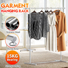 Simple Drying Rack Floor Clothes Rail Clothes Hanger Single Pole Coat Indoor Moving Storage Racks Modern 135*10*8cm