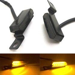 עבור הונדה ימאהה קוואסאקי סוזוקי 2PCS זורם מים אוניברסלי מיני LED אופנועים הפעילו אות אור בלם מצמד מנוף Flashers