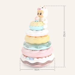 ChildrenS Educational Cake Jenga Baby Early Childhood Intellectual Birthday Gift Stacked Cup Ring Throwing Toy