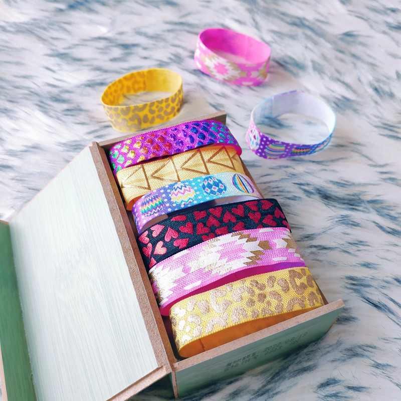 Scrunchies kid opaski Do włosów stroik gumki damskie różowe złoto Opaska Do Wlosow Flower Pack Tie wytłaczanie na gorąco Boho Gothic