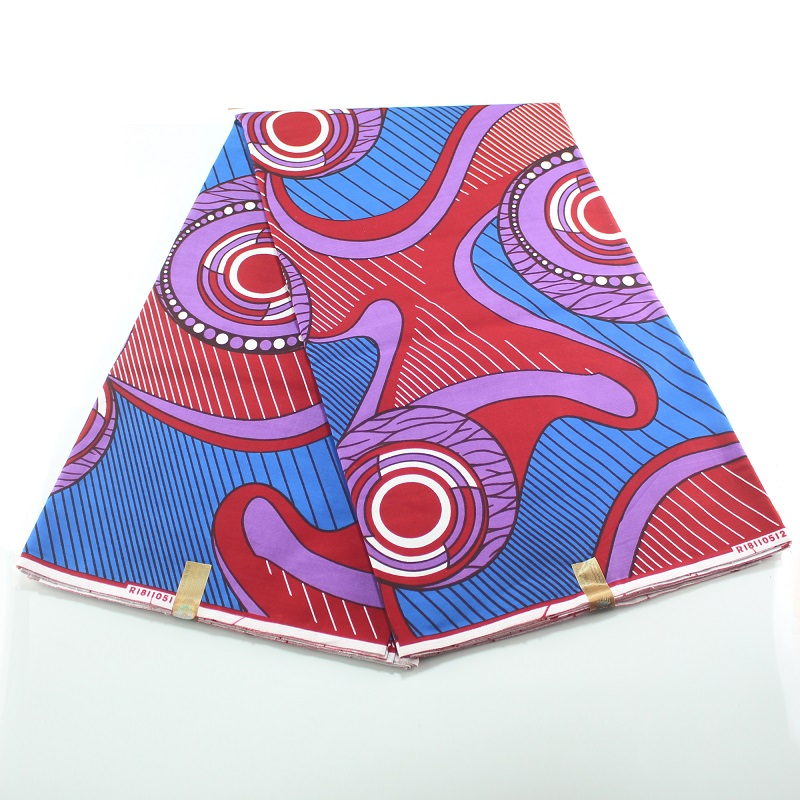 Wholesale Price! New High Quality 6 Yards 100% Cotton African Guaranteed Wax Printing Wax Africain Fabric
