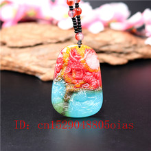 Natural Color Hetian Jade Stone Dragon Pendant Beads Necklace Chinese Jadeite Jewelry Charm Amulet Carved Gifts for Women Men(China)