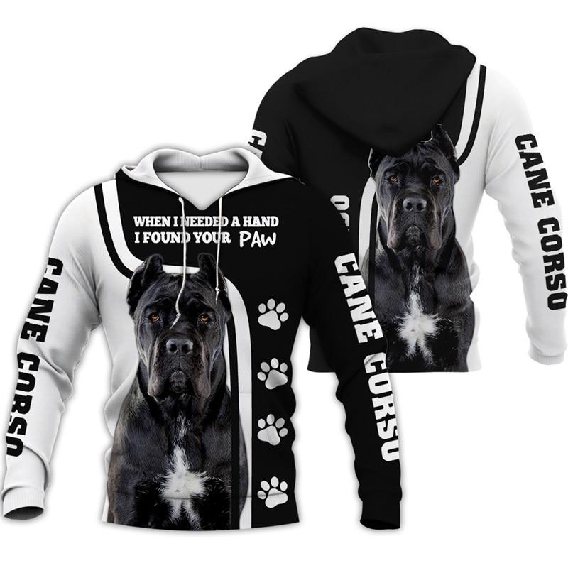 2020 hot sale Men women cane corso dog limited edition 3d zipper hoodies long sleeve Sweatshirts jacket pullover tracksuit