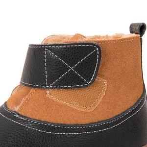 Image 4 - PEKNY BOSA Marke Kinder kleinkind schnee stiefel Mädchen jungen Winter Stiefel Plüsch Kinder Schuhe aus echtem leder matte schwarz stiefel Turnschuhe