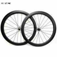 700c 도로 자전거 디스크 휠 45x25mm 클린 처 또는 관형 파워 웨이 ct31 센터 록 100x12 142x12 카본 휠 필러 1423 스포크