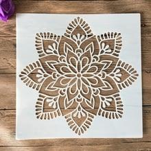 Mandala DIY Embossing-Album-Decorative-Template Layering Stencils Flowers Wall-Painting