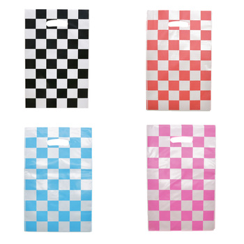 Lattice Theme Gift Bags Wrapping Supplies Candy Bags for kid s Birthday Party Decor Racing car white black Lattice Gifts Bags image