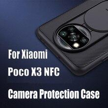 Para xiaomi poco x3 nfc caso nillkin camshield plástico câmera protetor slide casos de telefone para xiaomi poco x3 nfc capa