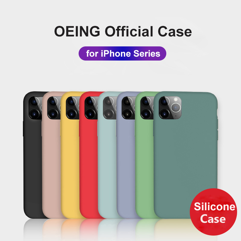 OEING for <font><b>iPhone</b></font> 11 Pro <font><b>Case</b></font> Silicone <font><b>iPhone</b></font> 11 Pro Max Cover Luxury SE 2020 X XS Max XR 6 6s 7 <font><b>8</b></font> Plus Funda Full Cover <font><b>Original</b></font> image