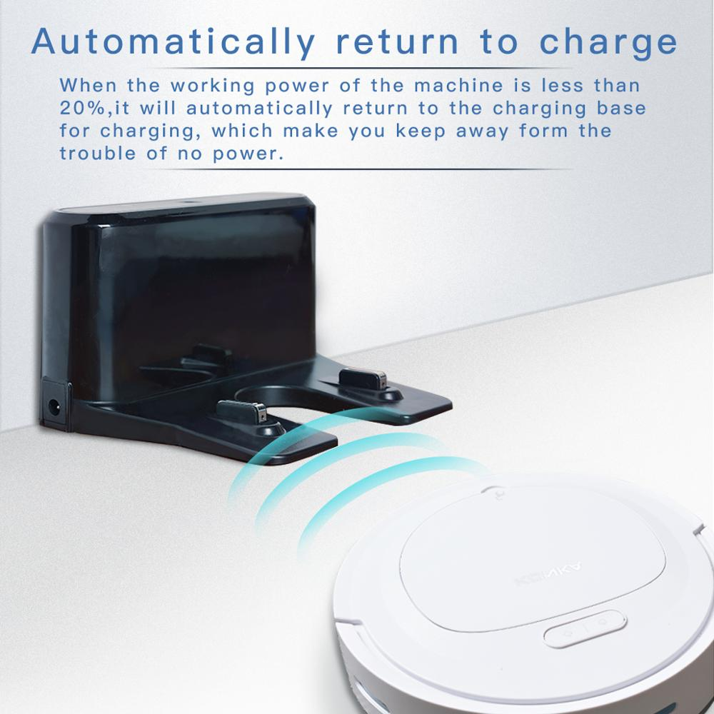 IKONKA V88 Automatically Chargeable Robot Vacuum Cleaner For Hard Floors and Carpet 4