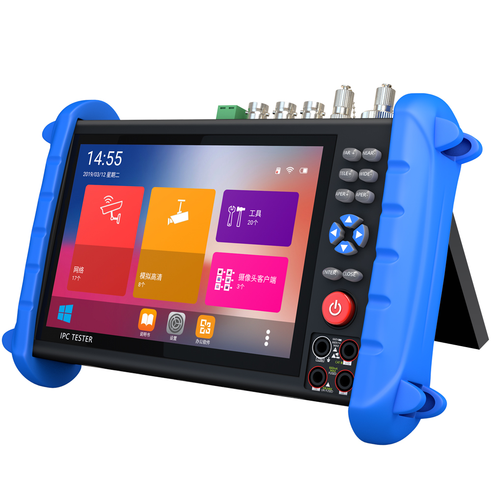 7 Inch HD CCTV Tester Monitor AHD CVI TVI CVBS SDI IP H.265 4K 8MP HDMI In Multimeter TDR Optical Fiber VFL ONVIF WIFI POE