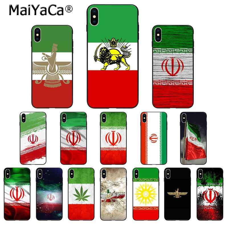 MaiYaCa إيران العلم بولي TPU لينة سيليكون الهاتف حقيبة لهاتف أي فون 8 7 6 6S زائد 5 5s SE XR X XS ماكس Coque شل
