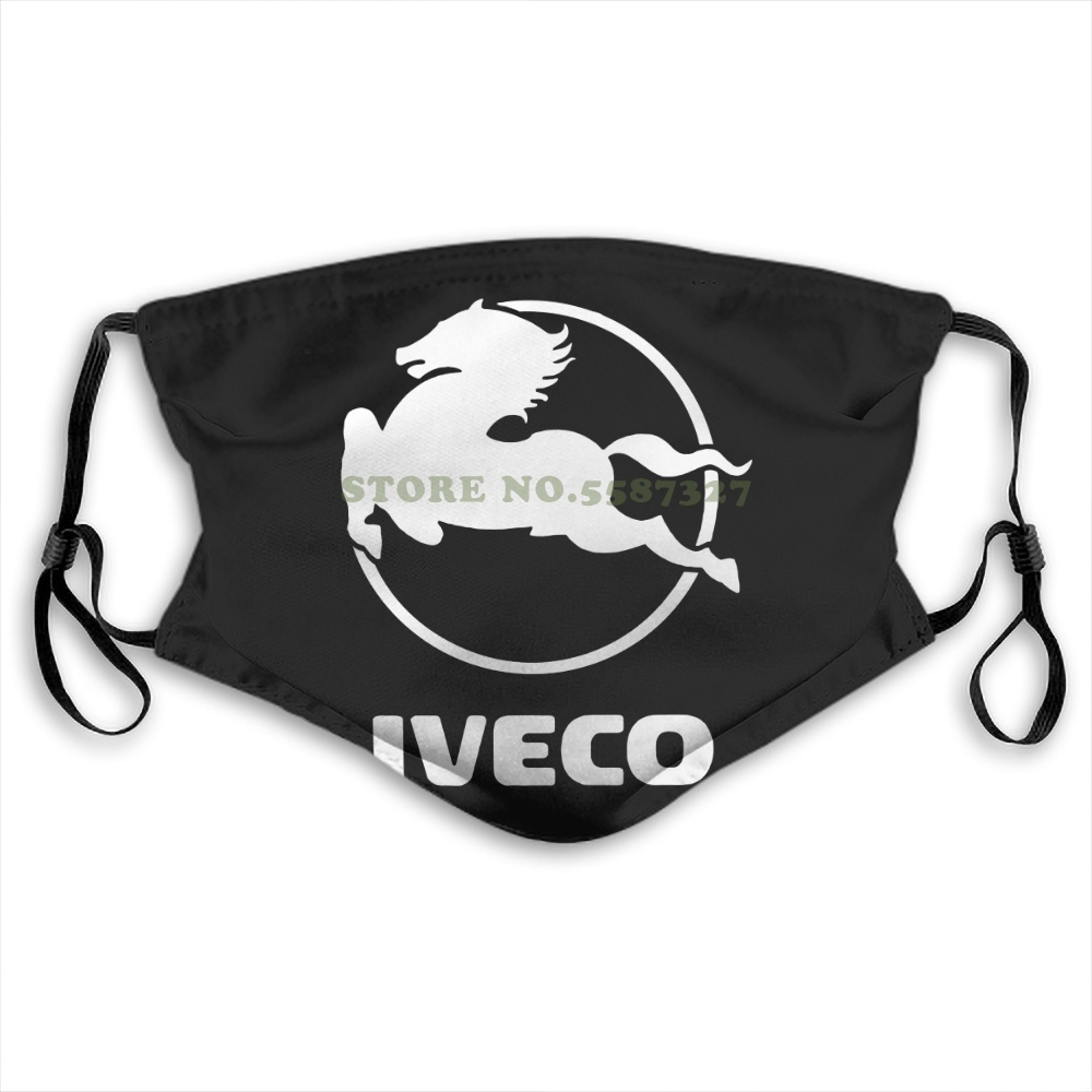 Face Mask Iveco Truck Anti Dust With Filter For Men For Women Kids Girl Boy Teens Masks