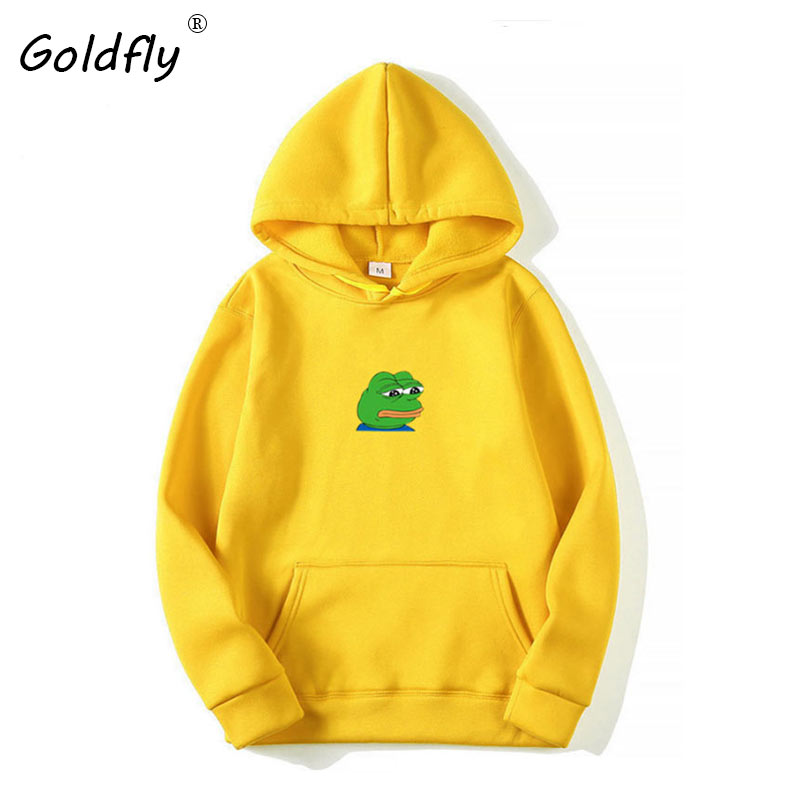 Goldfly Pink Black Red Blue  Yellow Hoodies Men Woman Unisex Hip Hop Streetwear Sweatshirts Skateboard Pullover Hooded Tops