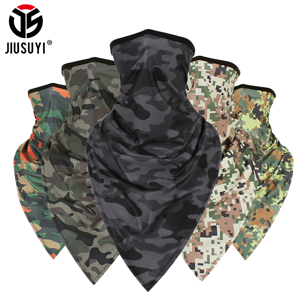 Tactical Summer Tube Camo Headband Military Balaclava Bandana Triangle Face Mask Windproof Soft Thin Wrap Scarf Neck Gaiter Men