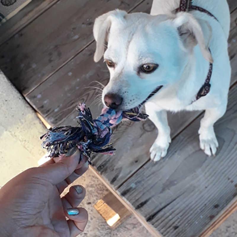 1pc 18 centimetri Casuale Forma di Osso di Cane di Colore Doppio Nodo Corda di Cotone Intrecciata Chew Giocattolo Dell'animale Domestico del Cucciolo del Gatto Molare denti Prodotti Per La Pulizia