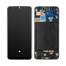 Wyświetlacz LCD AAA do Samsung Galaxy A50 A505 SM A505F A505DS A505F A505A wyświetlacz LCD z ekranem dotykowym Digitizer montaż + rama