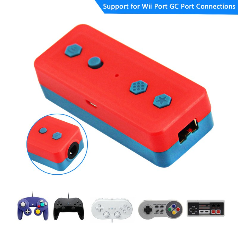 Wireless Bluetooth Adapter Converter Base Supports Classic Handles 3 In 1 Controller For Gamecube / NES