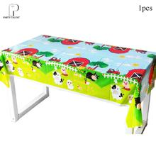 Boys Kids Farm Animal Theme Tablecloth Cover Birthday Party Tableware Balloon Candy Box Flag Plate Cup Party Supplies