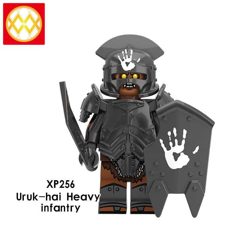Uruk -- Hai Komandan Berat Panah Infanteri Berat Dukun KT1033 Lord Of The Rings Bangunan Angka Blok Anak Mainan Toko