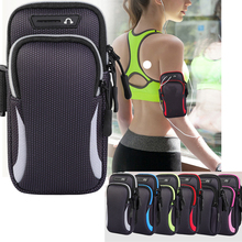 Gym Sports Running Jogging Armband Arm Band Bag Holder Case Cover For Cell Phone Armband 6.5  cell phone for iphone xs 11 max waterproof pvc bag case w strap armband for cell phone more transparent light blue