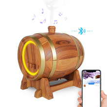 Bluetooth Speaker Wine Barrel Aroma Essential Oil Diffuser Waterless,Auto Shut-off,Timer ,7 Color LED Ultrasonic Humidifier цена и фото