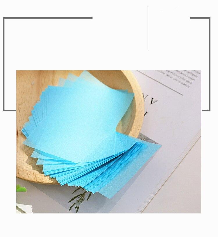 100Pcs Korea Fragrant Tissue Face Oil Absorbing Paper Plant Fibres Breathable Blotting Handkerchief Blotting Facial Cleanser