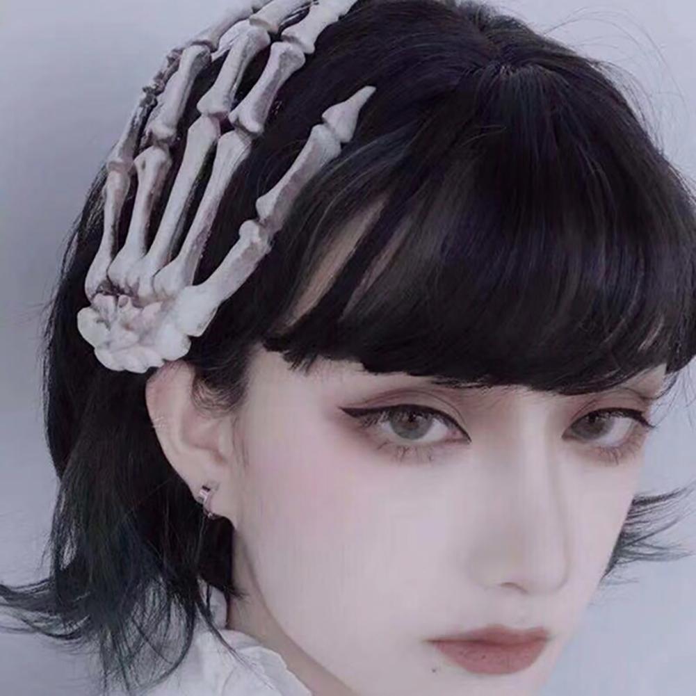 MISSKY Women Punk Rock Halloween Cosplay Party Skeleton Hand Bone Hair Clip Big Hairpin