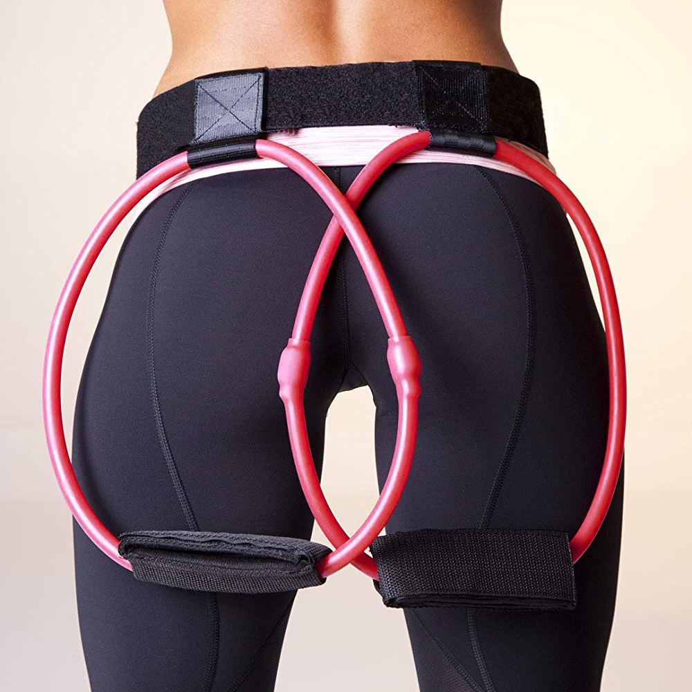 Fitness Women Body Butt Band Resistance Bands Adjustable Waist Belt Pedal Exerciser For Glutes Muscle Workout Yoga Rally Band