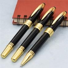 Luxo john f. Kennedy série clipe de ouro mb marca caneta rolo bola caneta com alta quailty artigos de papelaria escola material de escritório escrita