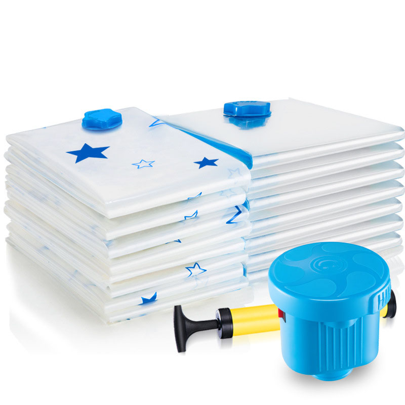 Vacuum Storage Bags With Valve Transparent Foldable Home Clothes Quilt Organizer Seal Compressed Travel Space Saving Seal Packet