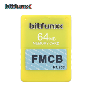 Image 5 - Bitfunx Free Mcboot Memory Card FMCB for PS2 Console Sony PLAYSTATION 2 Video Game Card Blue Color 64MB