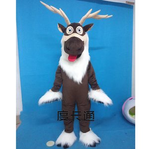Image 1 - Adult Deer Mascot Costume Sven Costume Reindeer Mascot Anime Costumes Advertising Mascotte Fancy Dress Kits