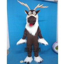 Dorosły jeleń kostium maskotka Sven kostium renifer maskotka Anime kostiumy reklamowe Mascotte przebranie zestawy