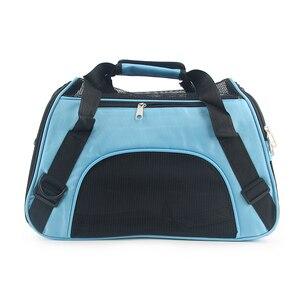 Image 5 - ソフト両面キャリアポータブルペットバッグピンク犬のキャリアバッグ青猫キャリア発信旅行通気性ペットハンドバッグ