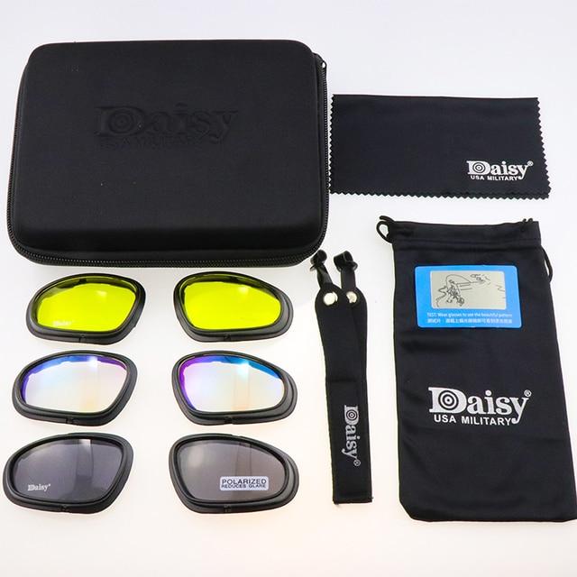 C5 polarizado óculos de proteção tático photochromic ciclismo uv400 airsoft óculos de segurança esportes ao ar livre óculos de sol 2