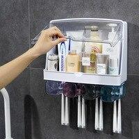 방진 칫솔 홀더 고용량 방수 저장 화장품 치약 욕실 액세서리 실용적인 홈 도구 세트