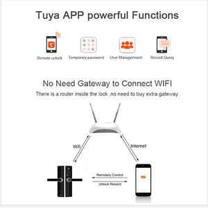 Image 2 - Tuya Wifi Door Lock With Fechadura Digital, Smart Door Lock with Remotely Control, Fingerprint ,Password ,RFID Card Lock