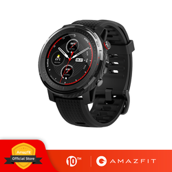 재고 있음 글로벌 버전 Amazfit Stratos 3 스마트 시계 GPS 5ATM 블루투스 음악 듀얼 모드 14 일 Smartwatch 샤오미 2019