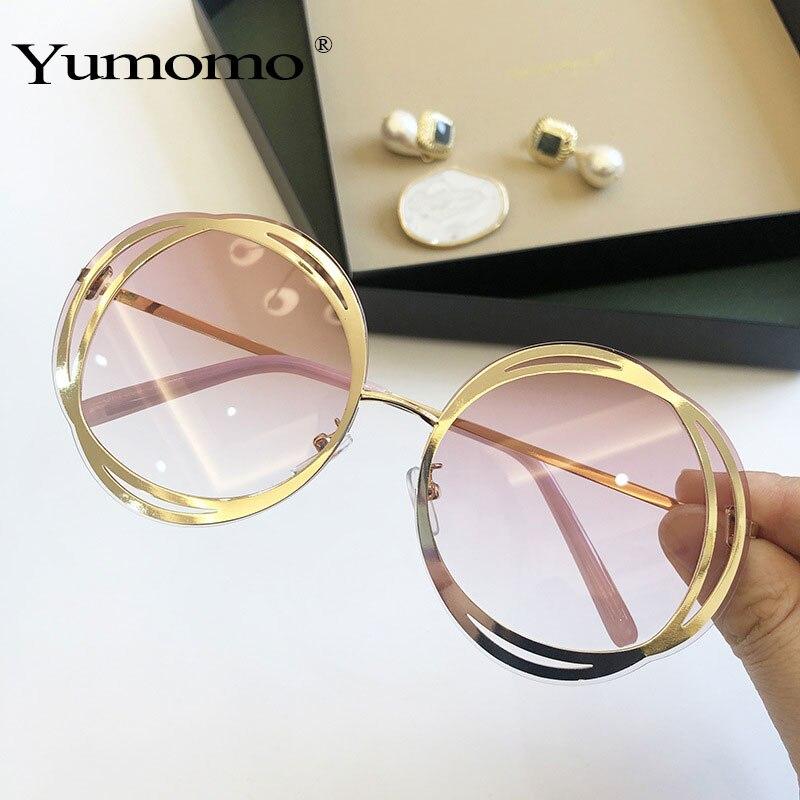 2020 роскошные круглые солнцезащитные очки большого размера с зеркальными линзами размера d женские брендовые дизайнерские солнцезащитные о...