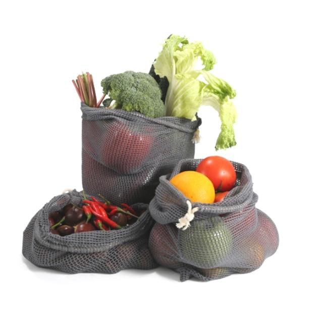 9pcs Reusable Produce Bags Cotton Mesh Produce Shopping Bag Set Organic Eco Friendly Washable Storage Bags for Fruit Vegetables 1